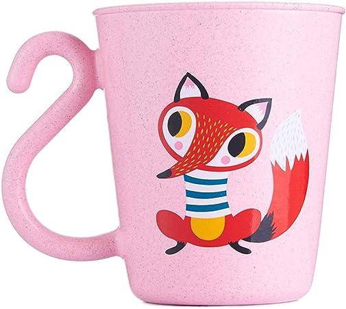 offrir des rabais Super remise qualité stable Exing Belle tasse en plastique de café de lait de bande dessinée Coupe de  dessin animé pour enfants Porte-brosse à dents Tasse de rinçage de salle de  ...