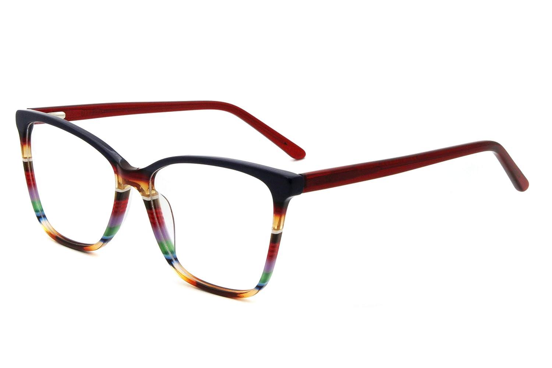 Oversize Multicolor Eyeglasses Non-prescription Optical Frame for Women & Girls