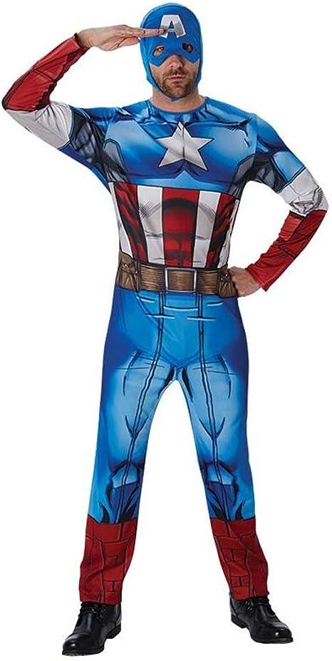 NET TOYS Disfraz Capitán América Traje Hombre superhéroe M/L 48/54 ...