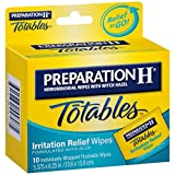 Preparation H Hemorrhoidal Wipes With Witch Hazel Flushable Wipes, 10 each by Preparation H (Pack of 2)