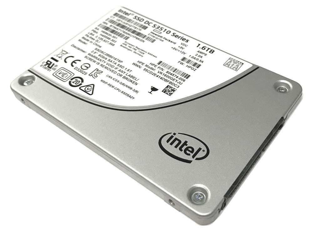 Intel DC S3510 Series 1.6TB 2.5-inch 7mm SATA III MLC (6.0Gb/s) Internal Solid State Drive (SSD) SSDSC2BB016T6P / (HP Model VK1600GEYJU / 804574-006) - New OEM w/ 5 Years Warranty