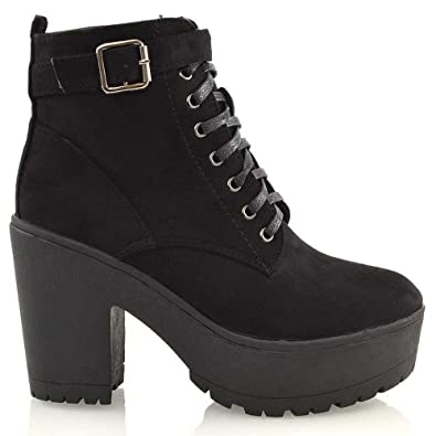 7af0d8cf3d0b7 Amazon.com | ESSEX GLAM Womens Synthetic Chunky Platform Cleated ...
