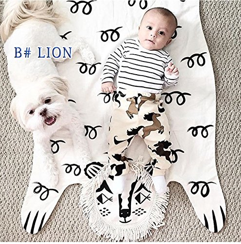 Lion Blanket Animal Carpet Play Mats Autumn Winter Car Children Floor Kids Crawling Rugs Baby Game Pad For Games Puzzle Soft Toy