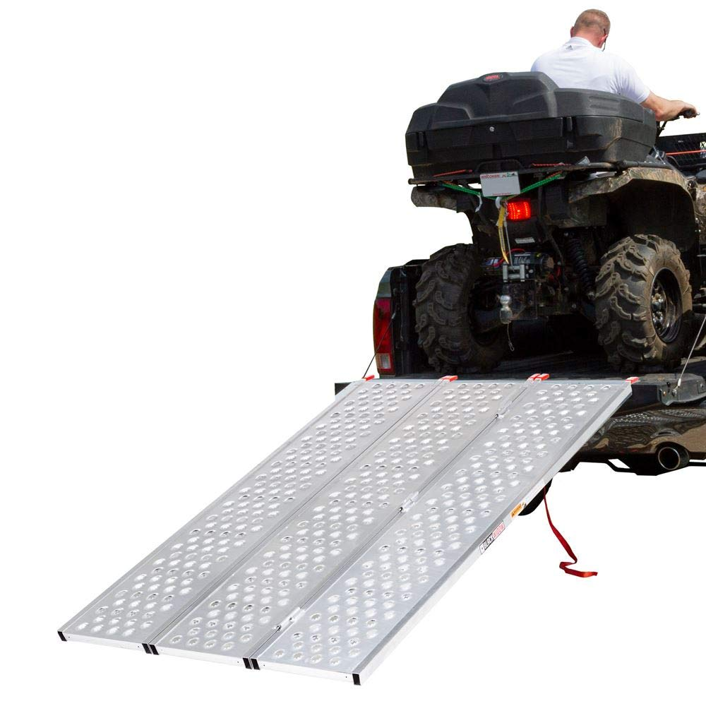 Black Widow Tri-Fold ATV Ramp with Punch Plate Surface by Black Widow