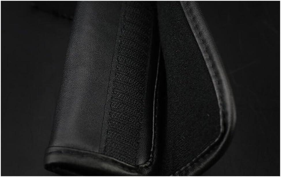 luckyshd Leder Auto Handbremshebel Gear Shift Knob Cover Sicherheitsgurt Schulterpolster mit Kristall Strass one size schwarz 2