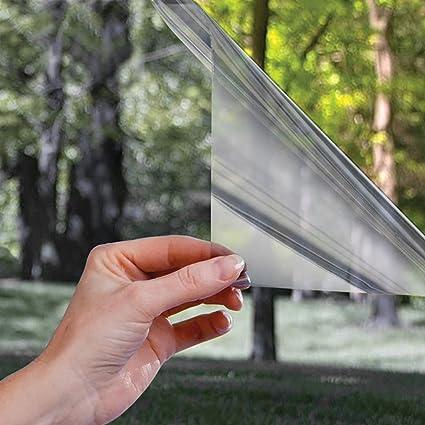 300CM iKINLO Film Miroir sans Tain Anti UV Film de Protection Solaire Film Auto-Adh/ésif Film Fen/être Anti Regard Protection de La Vie Priv/ée Film Adhesif Effet Miroir Argent 75
