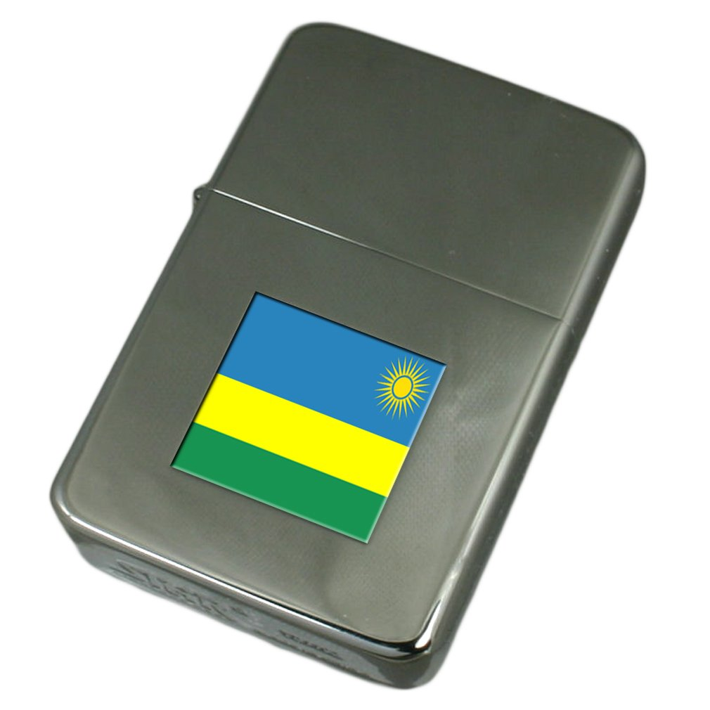 Engraved Lighter Rwanda Flag