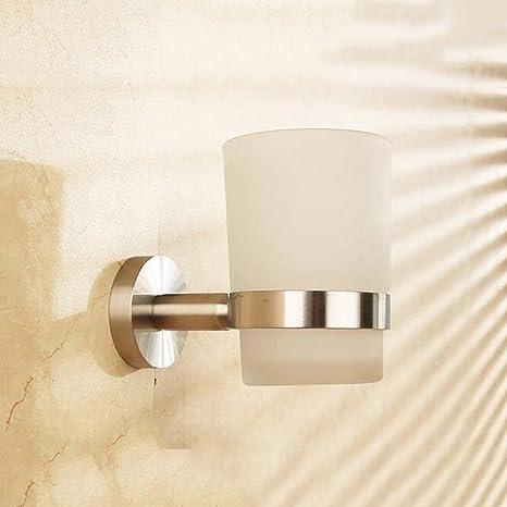 Portavasos Accesorio moderno del baño del cuadrado del vaso del soporte de pared del tenedor del
