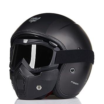 MERRYHE Casco De Moto De Fibra De Vidrio Unisex Moto Moto Casque Casco De Gama Alta