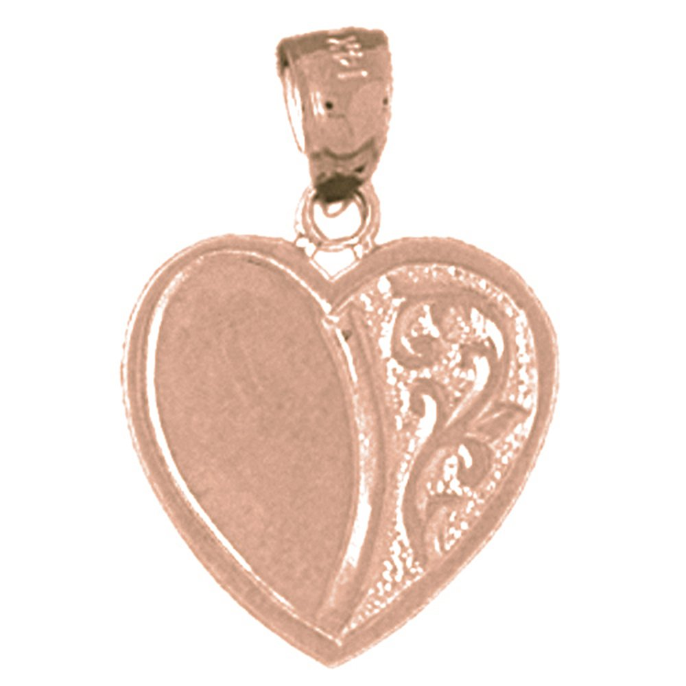 Jewels Obsession Heart Necklace 14K Rose Gold-plated 925 Silver Heart Pendant with 16 Necklace