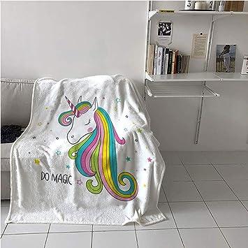 Amazon.com: Suchashome Unicorn Throw Blanket,Colorful ...