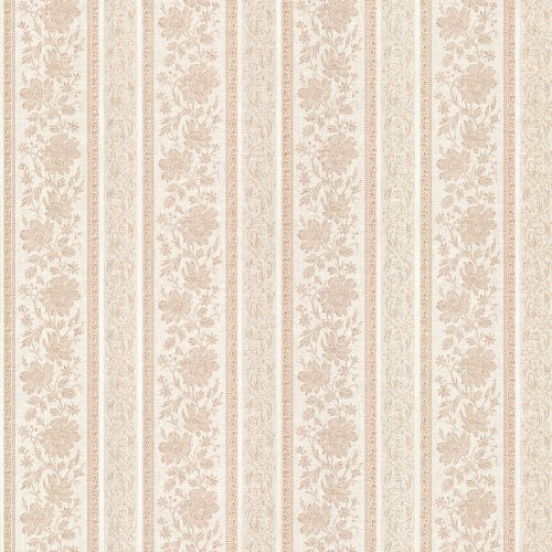 Mirage 987-56578 Lissandra Floral Stripe Wallpaper, Pink