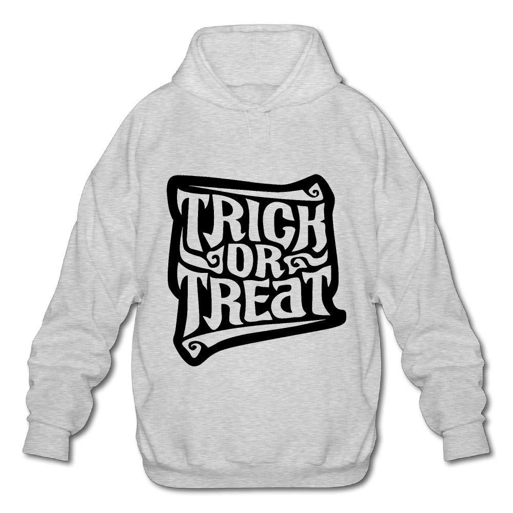 OPQRSTQ-O Trick Treat Mens Printed Hooded Sweatshirt Hoody