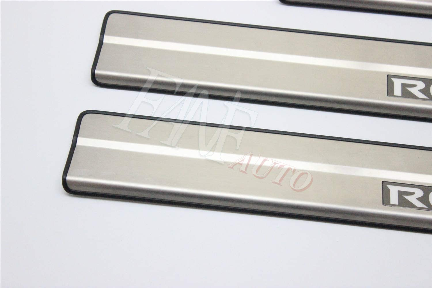Led FANFAUTO Stainless Steel Door Sill Protector Trim Cover Entry Guard Scuff Plate for Nissan Rogue 2014-2018