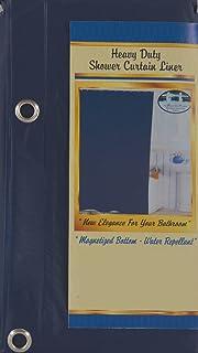 Amazoncom Solid Navy Blue Vinyl Shower Curtain Liner Heavy Duty