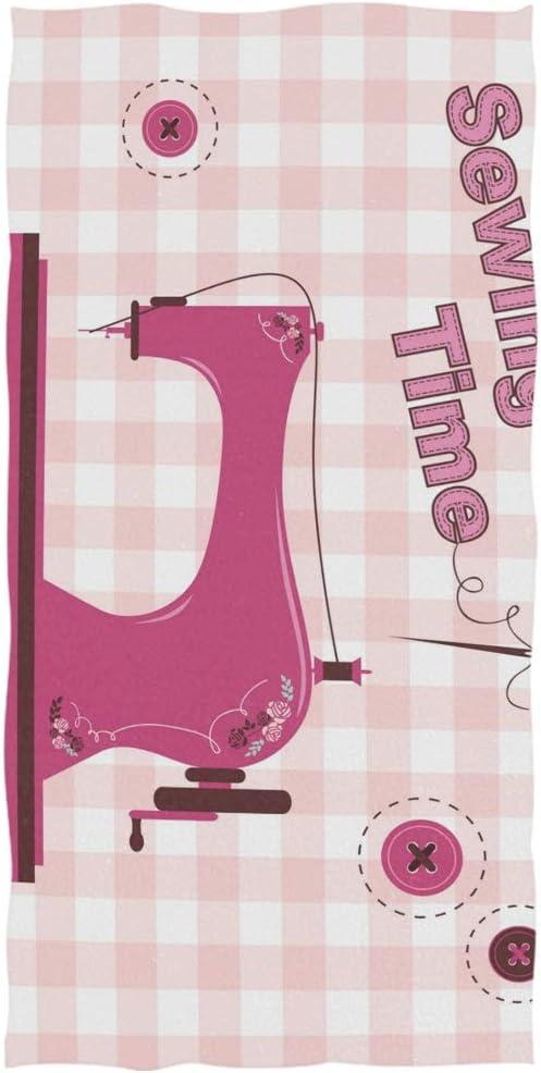 DEZIRO Toalla de baño para máquina de Coser Vintage, Color Rosa ...