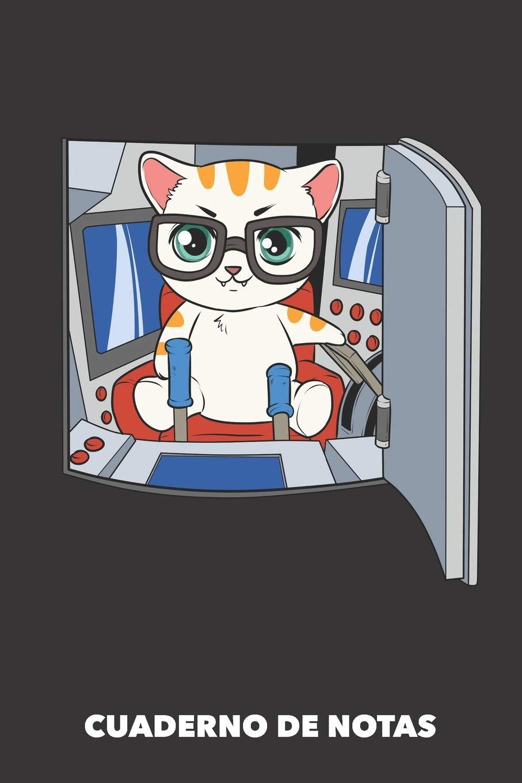 Cuaderno de Notas: Gato con mando a distancia A5 en blanco ...