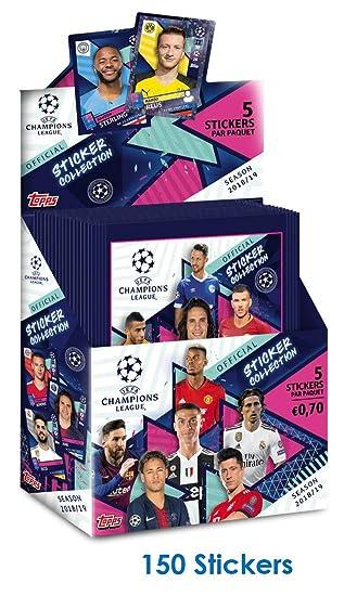 Topps 2018-19 - Pegatinas de la Liga de Campeones (30 Unidades, 5 Pegatinas por Paquete) (Total de 150 Pegatinas)