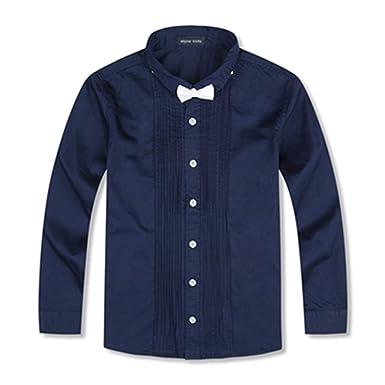 Sunonvi Camisas para niños con Corbata Camisas para niños de ...