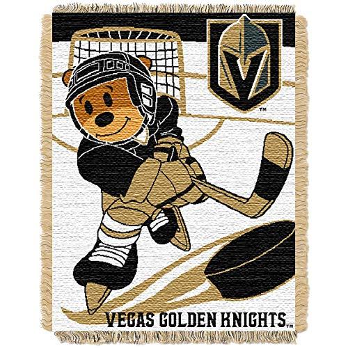 The Northwest Company LAS Vegas Golden Knights Score Baby Woven Jacquard Throw Blanket ()