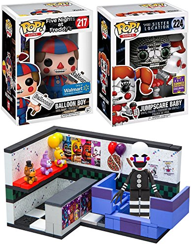 Five Nights at Freddy's Funko Pop! Exclusive Figures Balloon Boy & Jumpscare Baby SDCC Sister Location & + FNoF Prize Corner Small McFarlane Construction Buildable Set 104 Pcs The - Chicago Target Locations In