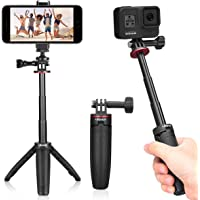 Ulanzi Extendable Selfie Stick for Gopro Hero 9/8/7/6/5, Portable Vlog Selife Stick Tripod Stand for Gopro Max DJI Osmo…