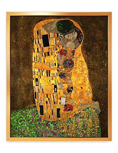 DecorArts - The Kiss, by Gustav Klimt. Giclee Print& Museum Quality Framed Art for Wall Decor. 16x20