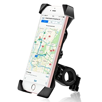 Soporte de Bicicleta Soporte Para Teléfono Celular Universal Manillar de la Motocicleta Soporte Para Teléfono Móvil ...