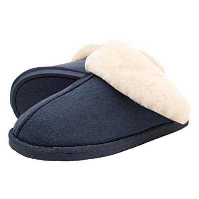 SOSUSHOE Womens Slippers Fur Slippers Ladies House Bedroom Shoes with Anti-Slip Sole for Indoor Outdoor | Slippers