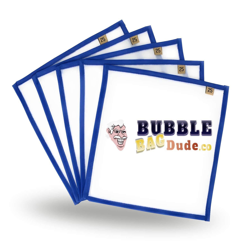 Drücken Bildschirm (5Stück 25Mikron) 25,4x 25,4cm von bubblebagdude für Herbal Essence Hash Ice & Herbal extractions- Schnelle Trocknung Bubble Bag