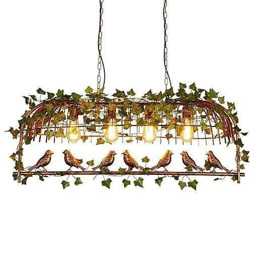 Araña de Jaula de pájaros de Hierro con 4 Bombillas Restaurante ...