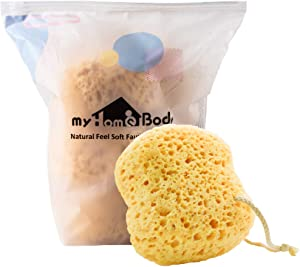 myHomeBody Premium Bath Sponge, Foam Loofah Sponge, Body Sponge for Shower - Large Size, Lots of Lather, 3 Pack