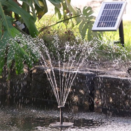 Aqua Moda® Solar Fountain with Brushless Pump and Float For Small Ponds DIY2GO AE09011