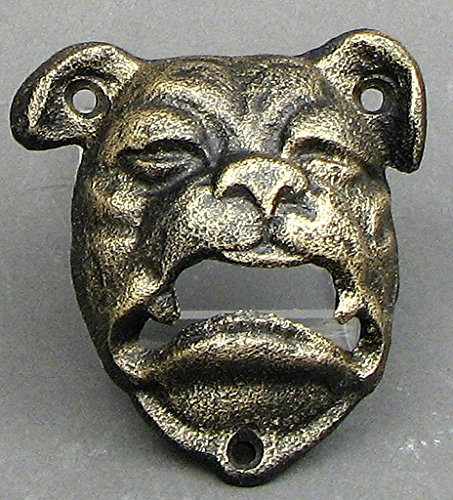 Bulldog Bottle Opener Cast Iron (Sport Steel Tech Watch Bulldogs)