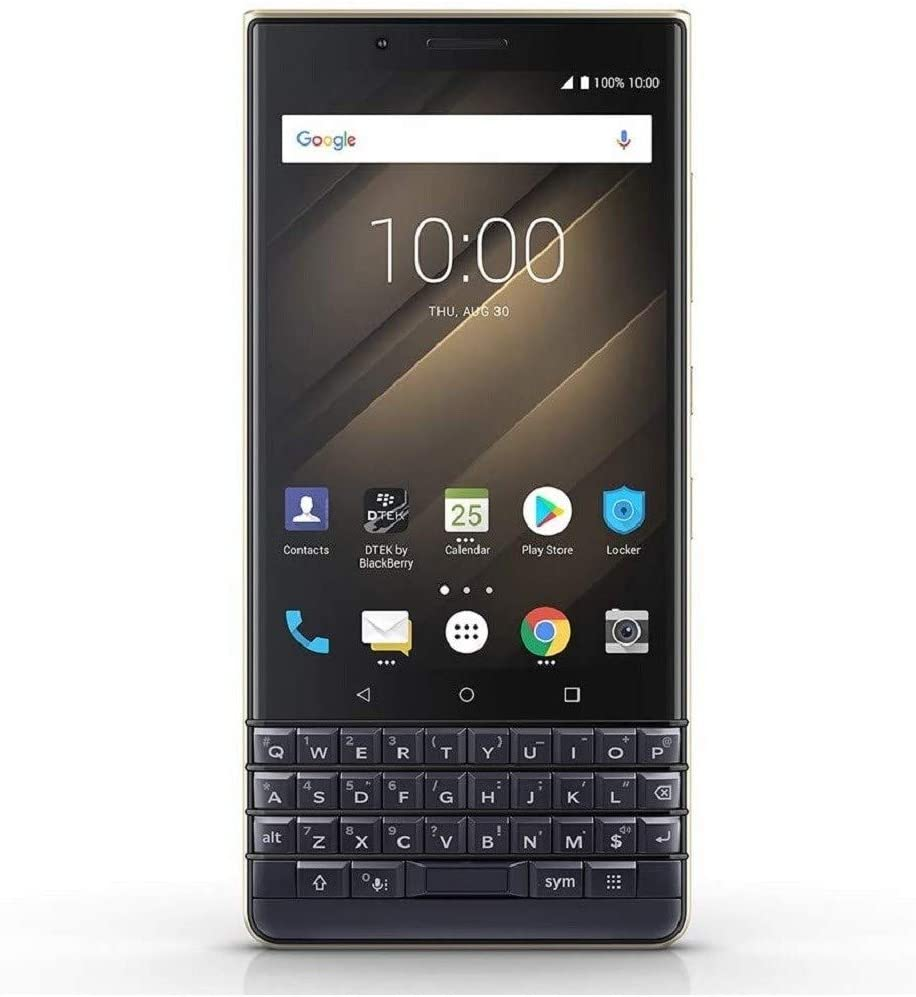 BlackBerry KEY2 LE Dual-SIM (64GB, BBE100-4, QWERTY Keypad) GSM Factory Unlocked 4G LTE Smartphone (T-Mobile, AT&T, Metro, Cricket) International Version(Champagne/Dark Blue)