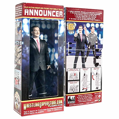 Talking Wrestling Ring Announcer Action Figure By Figures Toy Company