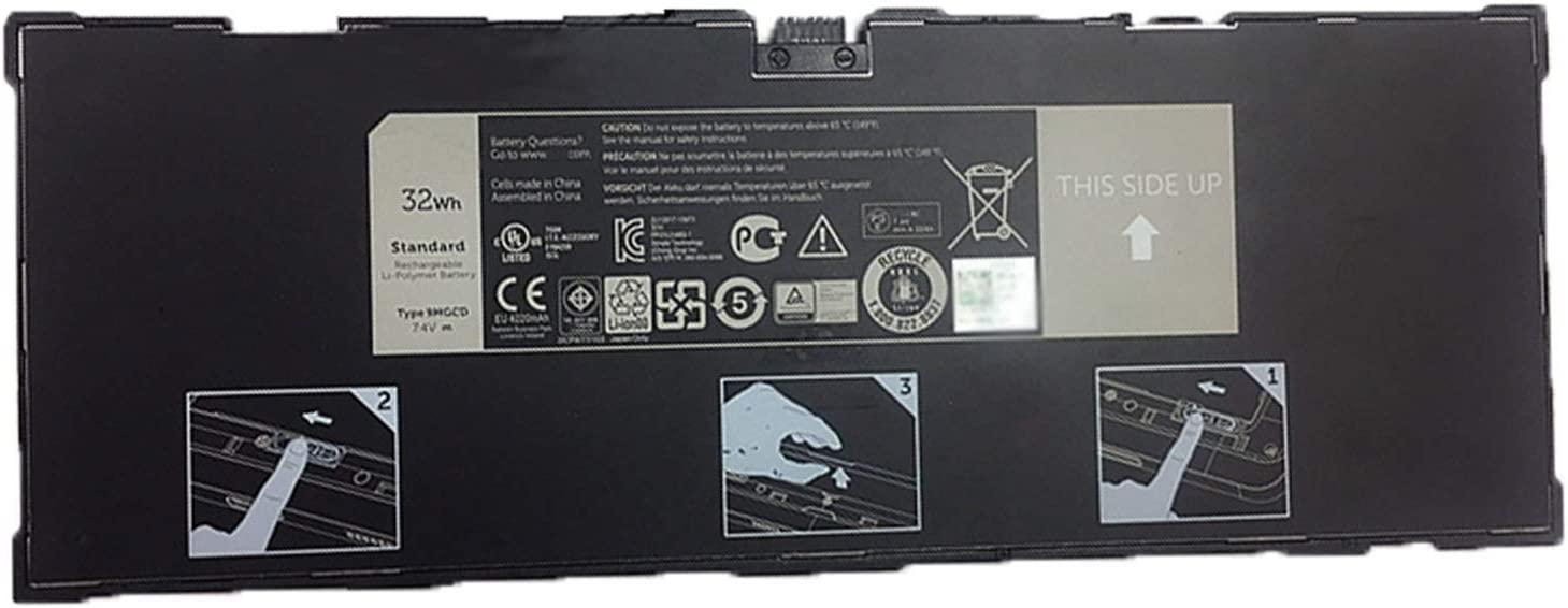 Dentsing Compatible Laptop Battery with Dell 9MGCD 7.4V 32Wh Venue 11 Pro 5130 Tablet T8NH4 0T8NH4 XMFY3 312-1453 VYP88