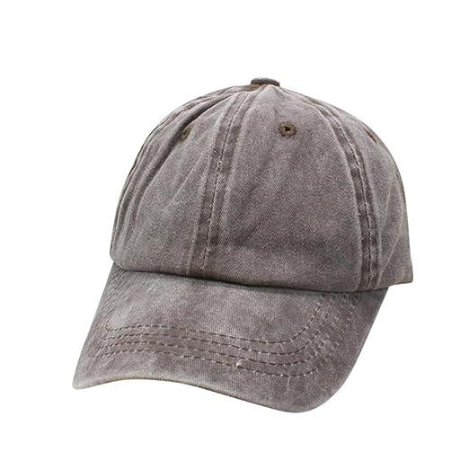 cb495d72 Sunbona Baseball Hat,Toddler Baby Boy Girls Solid Cotton Snapback Baseball  Caps Bucket Hats (