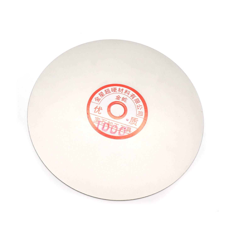 1000 Grit 6-inch Outside Dia Glass /& Rock Rannb Flat Lap Wheel Diamond Coated Grinding Sanding Polishing Disc for Jewelry