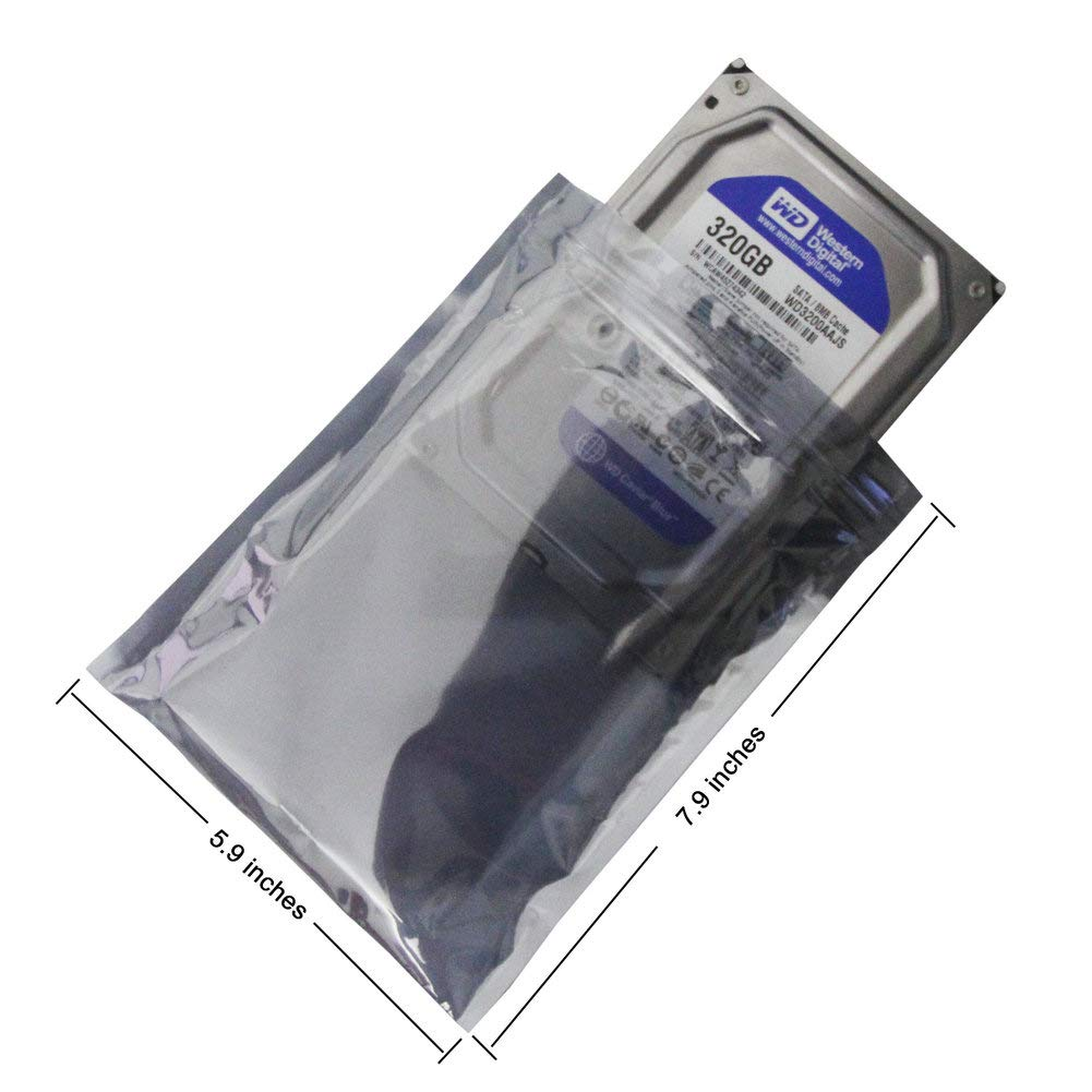 Anti Static Bag for SSD HDD and Other Electronic Devices Assorted Sizes YiwerDer 50Pcs Premium Antistatic Resealable Bag