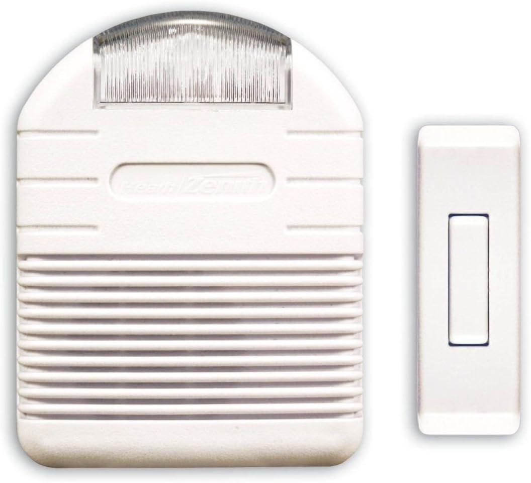 Heath Zenith SL-6144-A Wireless Plug-In Doorbell Chime Kit with Flashing Light,