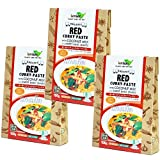 Organic red curry paste Set of three coconut milk input sweet basil with organic JAS gluten-free vegan Halal [Parallel import]
