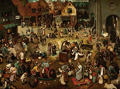 Pieter Bruegel the Elder - The Fight Between Carnival and Lent, Size 18x24 inch, Poster art print wall - America's Lentes Best
