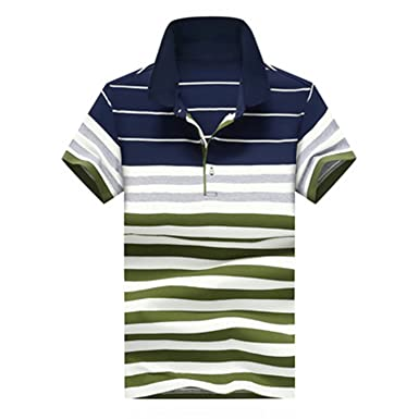 0104b14d87 Tyler Morrison New Fashion Striped Men Polo Shirt Summer Short-Sleeve Polo  Hombre Cotton Casual
