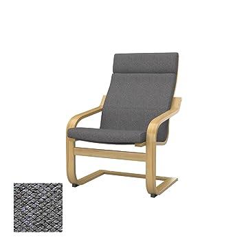 Soferia - IKEA POÄNG Funda para sillón, Nordic Grey: Amazon ...