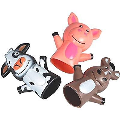 50 Farm Animal Finger Puppets Cow, Pig, Horse School Birthday Party Bag Favors Prizes: Toys & Games