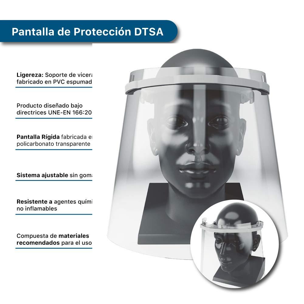 visera en forma de mascara para usos sanitarios gafas protectoras para evitar contaminaci/ón de los ojos a partir de salpicaduras o gotas Pantalla protectora facial transparente Industrial