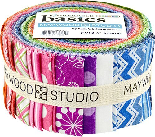 - KimberBell Basics Colors Strips 40 2.5-inch Strips Jelly Roll Maywood Studio