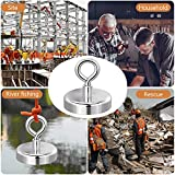 Magnets Fishing with 98Ft(30M) Nylon Rope, Carabine and Hand Gloves, 330Lbs(150Kg) Pulling Force Strong Neodymium Magnet for Salvage, Fishing and Retrieving