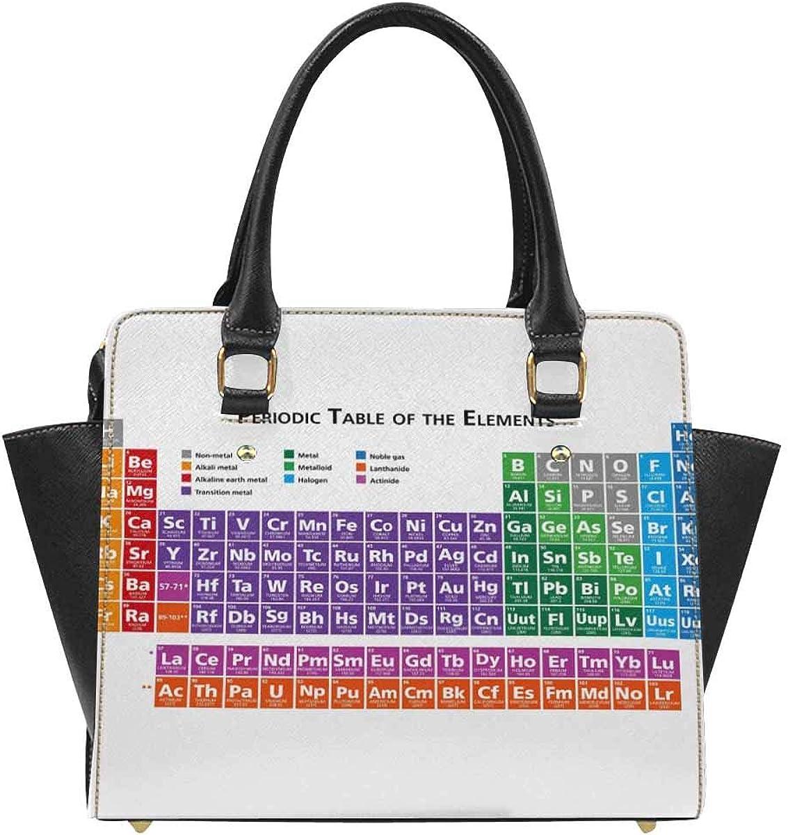 InterestPrint Periodic Table of Elements Handbags Tote Bag Shoulder Bag Top Handle Satchel Purse